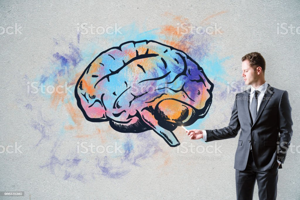 Brain storm and leadership concept stock photo