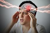 istock brain stroke concept, headache, cerebral hemorrhage, 3D rendering 815517776