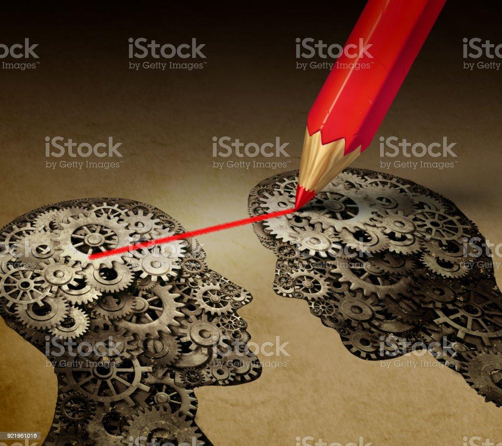 Brain Telepathy stock photo