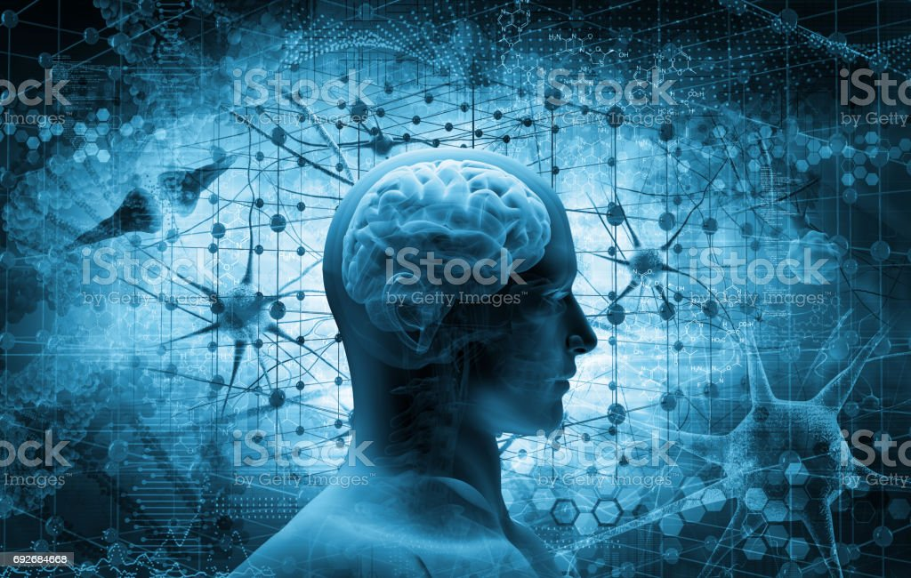 brain, thinking concept stock photo