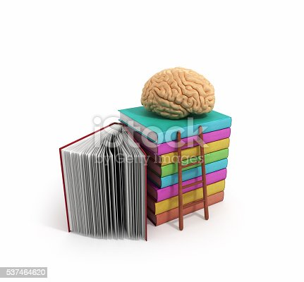 istock brain training concept lies on a pile of books 537464620
