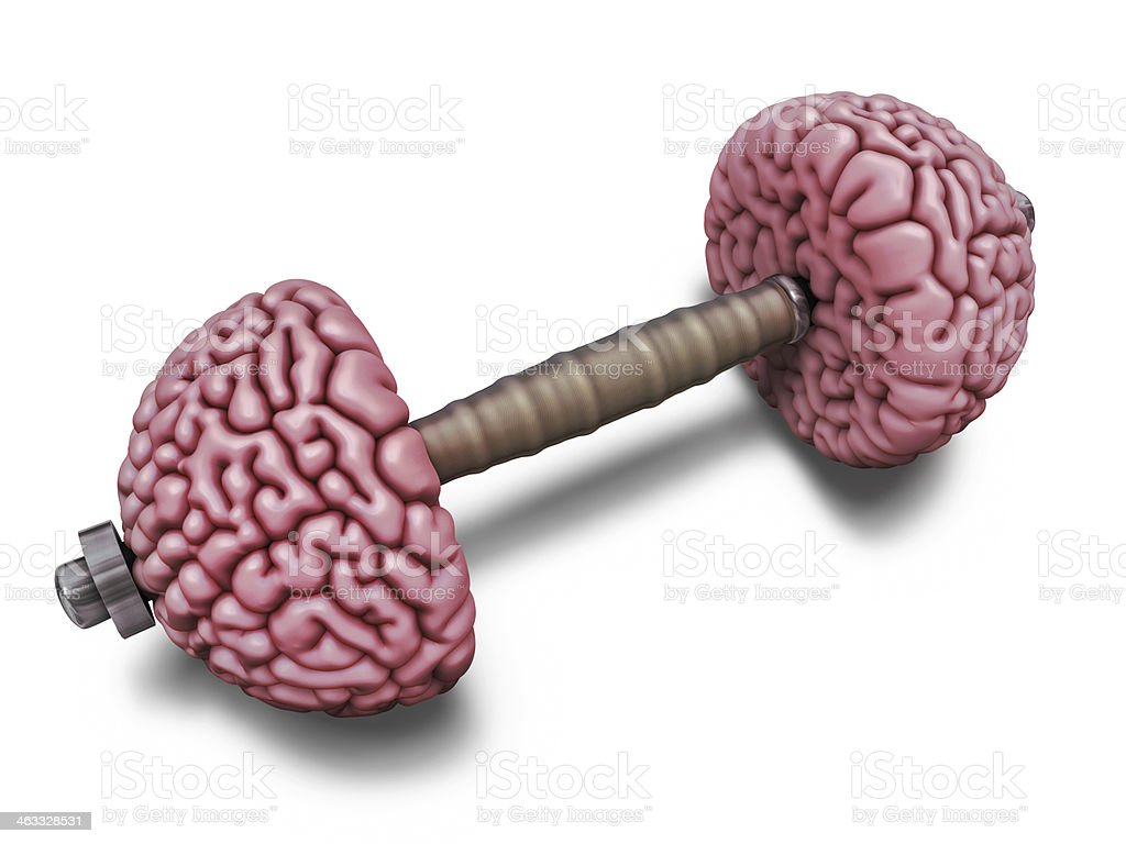 Brain training illustration stock photo