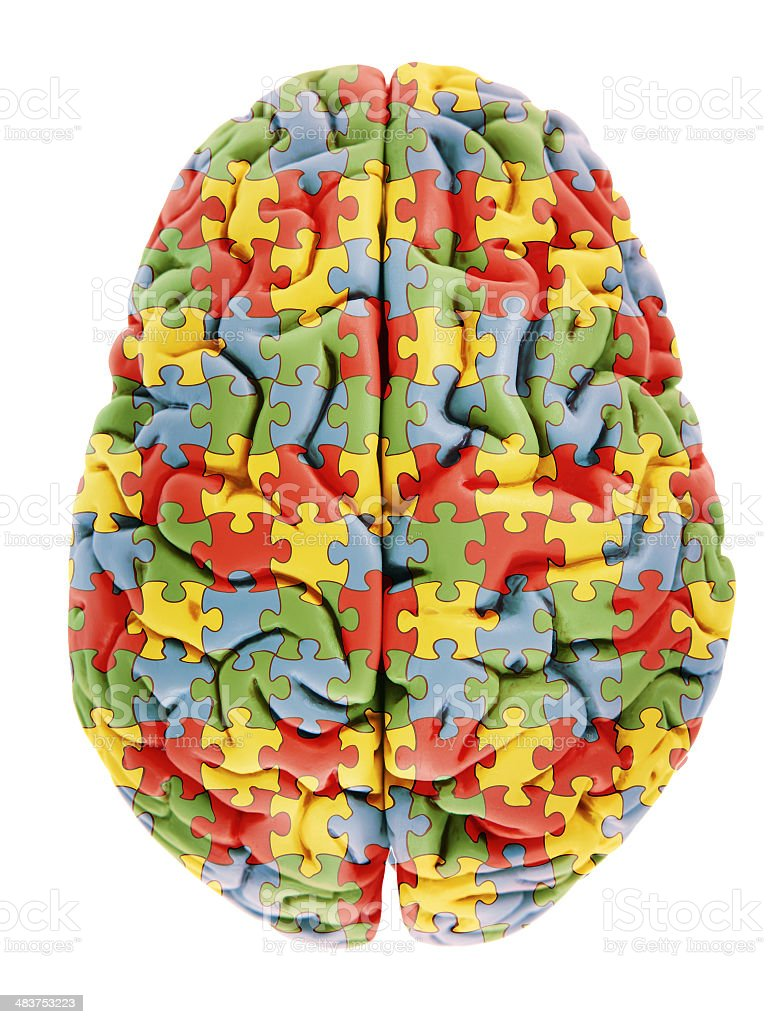 Brain with Autism stock photo