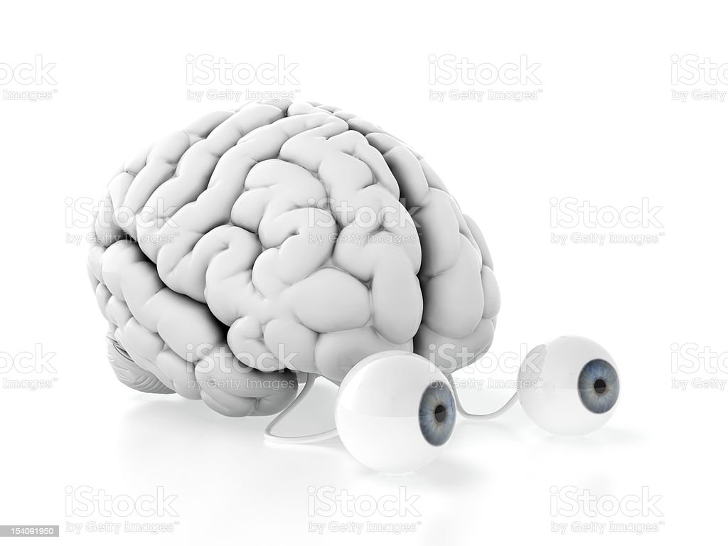 Brain with eyes royalty-free stock photo