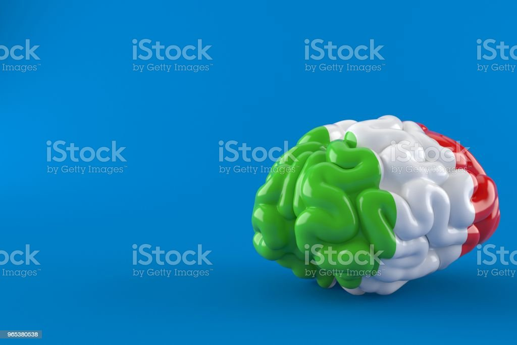 Brain with italian flag zbiór zdjęć royalty-free