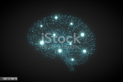 992017166 istock photo Brain with Neurons, Artificial Intelligence Concept 1067376676
