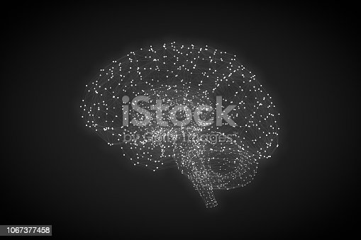 istock Brain with Neurons, Artificial Intelligence Concept 1067377458