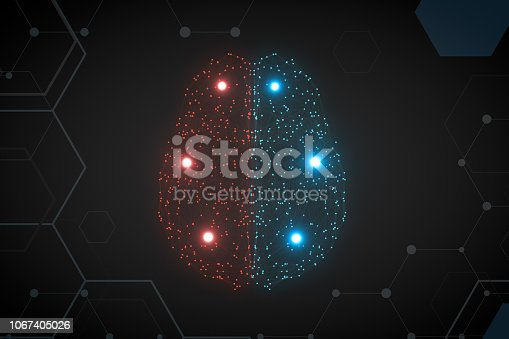 992017166 istock photo Brain with Neurons, Artificial Intelligence Concept 1067405026