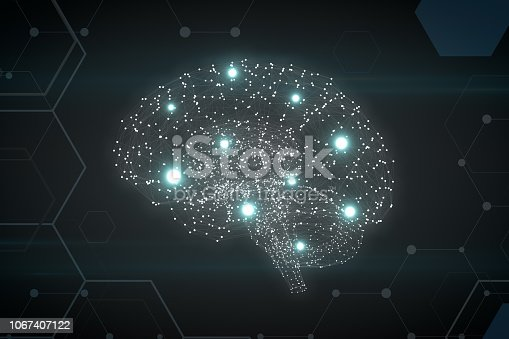 992017166 istock photo Brain with Neurons, Artificial Intelligence Concept 1067407122