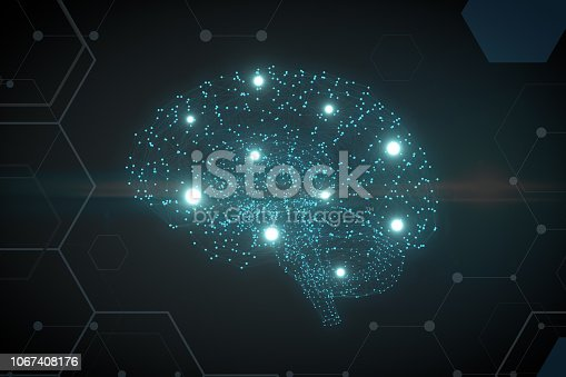 992017166 istock photo Brain with Neurons, Artificial Intelligence Concept 1067408176