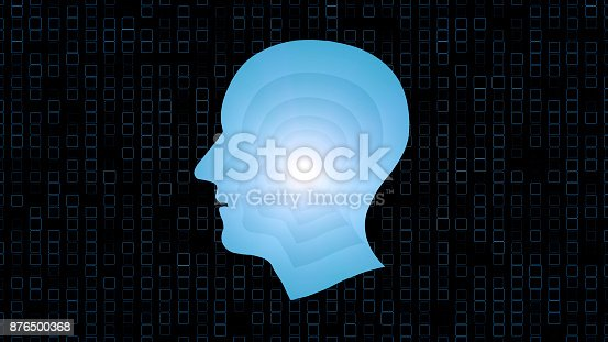 1071338130istockphoto Brain works, Artificial intelligence (AI) and High Tech Concept. Human and conceptual cyberspace, smart artificial intelligence. Future science with modern technology. 876500368