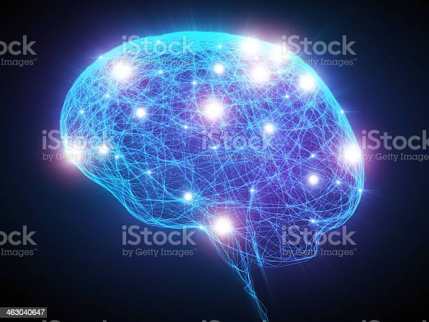 Brain Xray With Neurons Stock Photo - Download Image Now