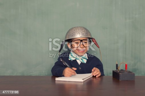 This little nerd is going to bend learning with his mind.