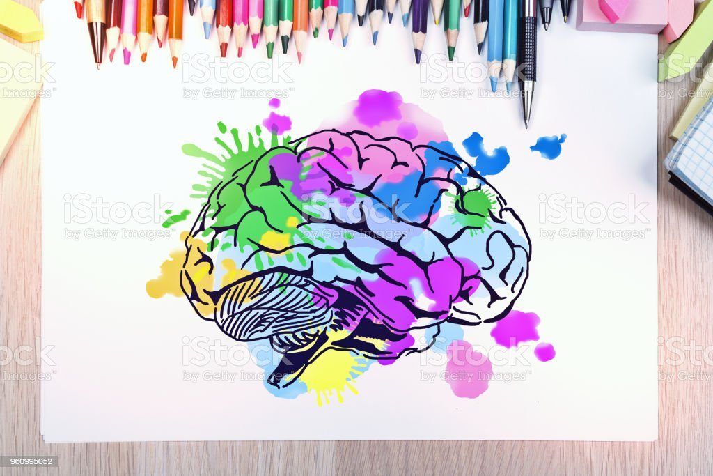Brainstorm and art concept stock photo