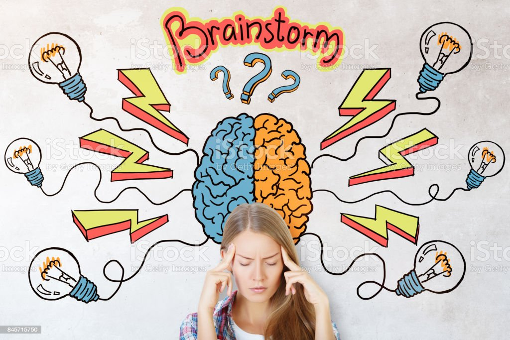 Brainstorm and idea concept stock photo