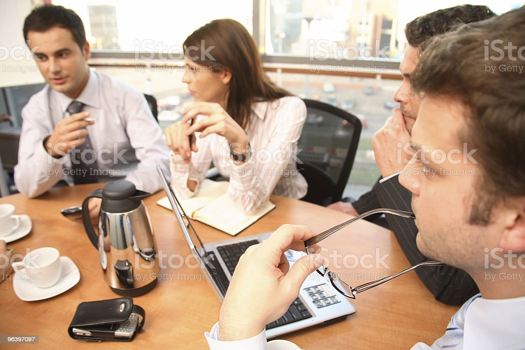 Brainstorm.Group of business people working on project royalty-free stock photo