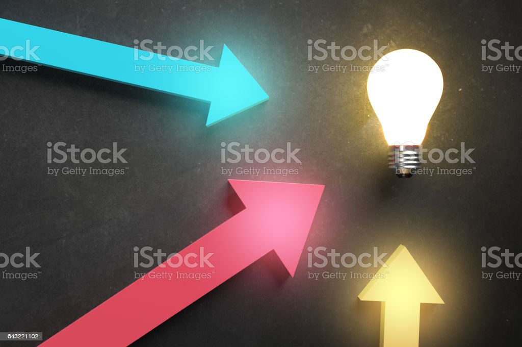 Brainstorming all inputs stock photo