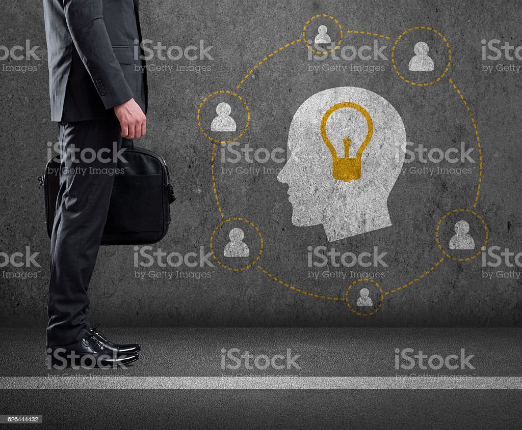Brainstorming and New Idea concept stock photo