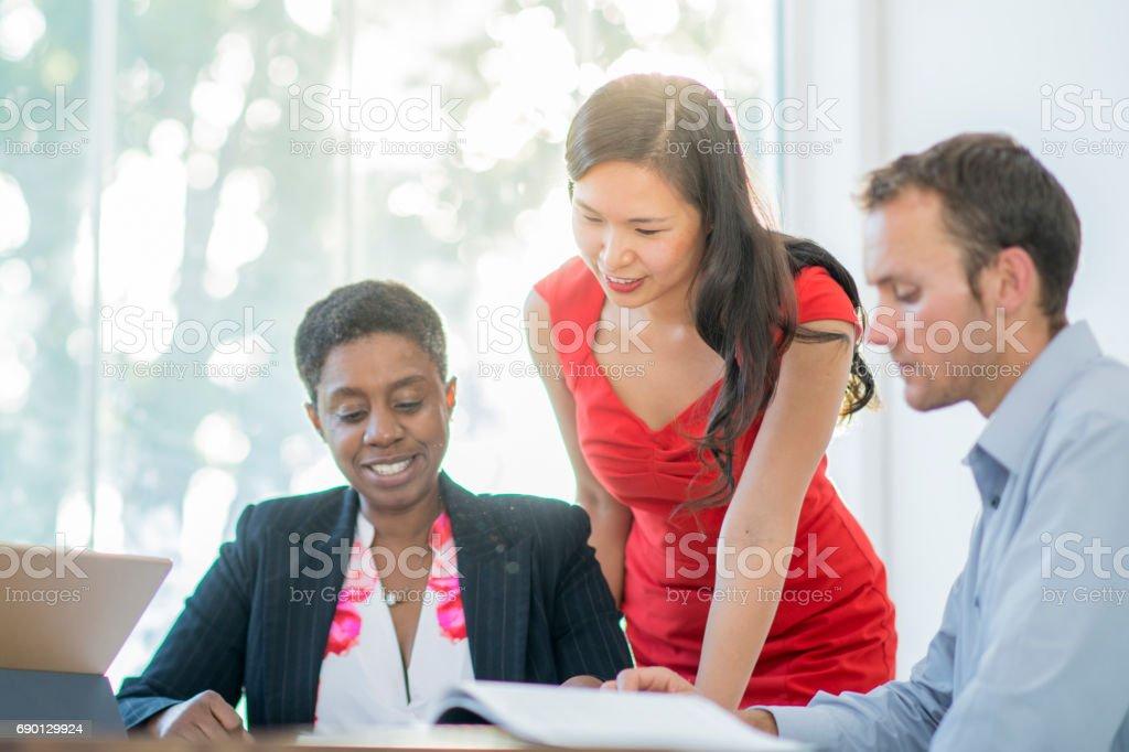 Brainstorming Business Ideas stock photo