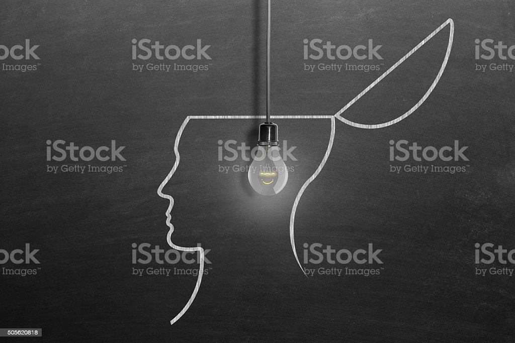 Brainstorming concept stock photo