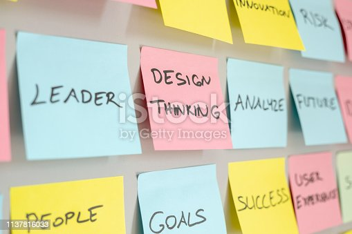 istock Brainstorming concept, Sticky Notes, Design Thinking 1137816033