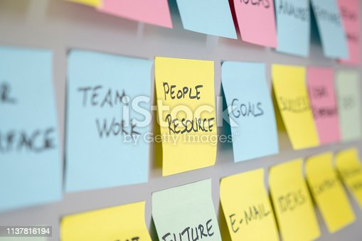 istock Brainstorming concept, Sticky Notes, People Resource 1137816194