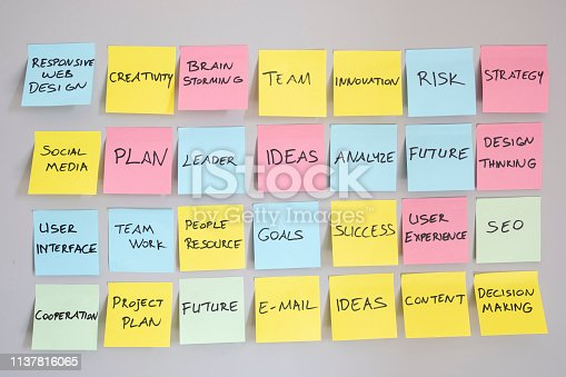 istock Brainstorming concept, Sticky Notes 1137816065