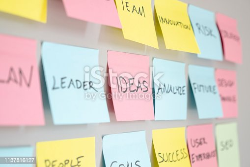 istock Brainstorming concept, Sticky Notes 1137816127