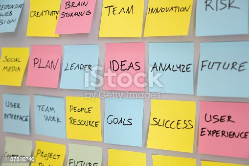 istock Brainstorming concept, Sticky Notes 1137816240