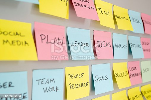 istock Brainstorming concept, Sticky Notes 1137816310
