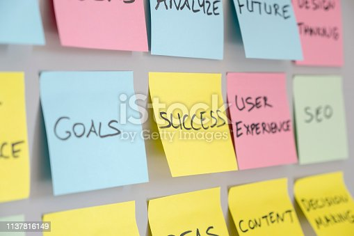 istock Brainstorming concept, Sticky Notes, Success 1137816149