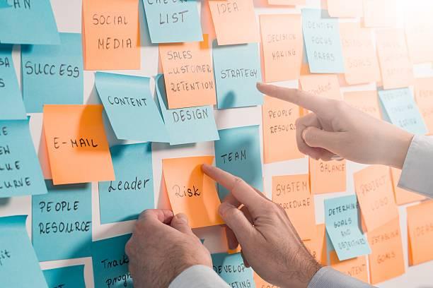 Brainstorming concepts. ストックフォト