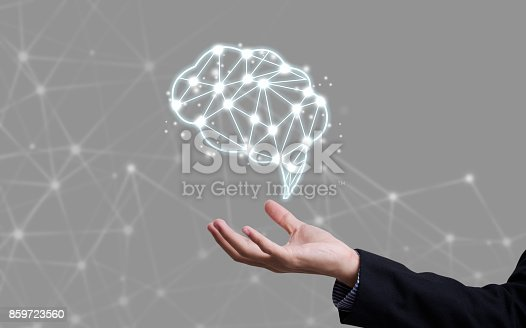 istock brainstorming creative idea abstract icon on business hand. 859723560