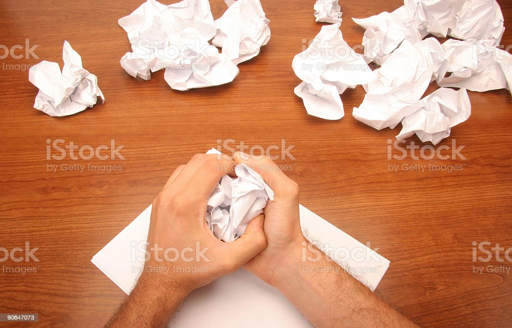 brainstorming frustration royalty-free stock photo
