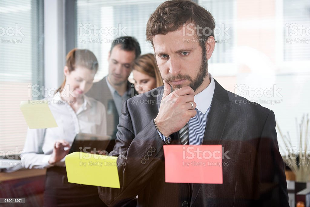 Brainstorming in office royalty-free stock photo
