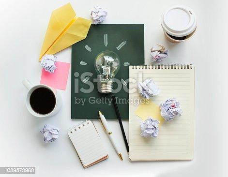istock Brainstorming meeting table top. 1089573960