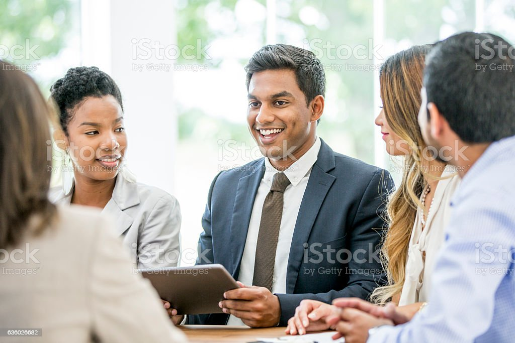 Brainstorming New Ideas stock photo