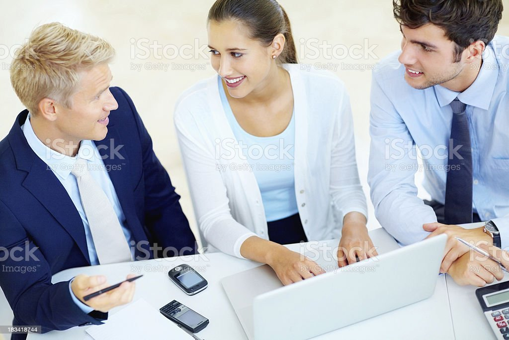 Brainstorming new project royalty-free stock photo