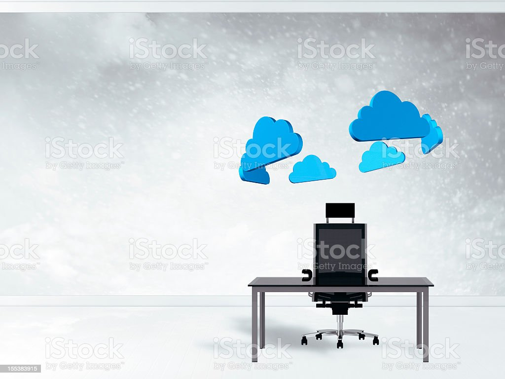 Brainstorming office environment stock photo