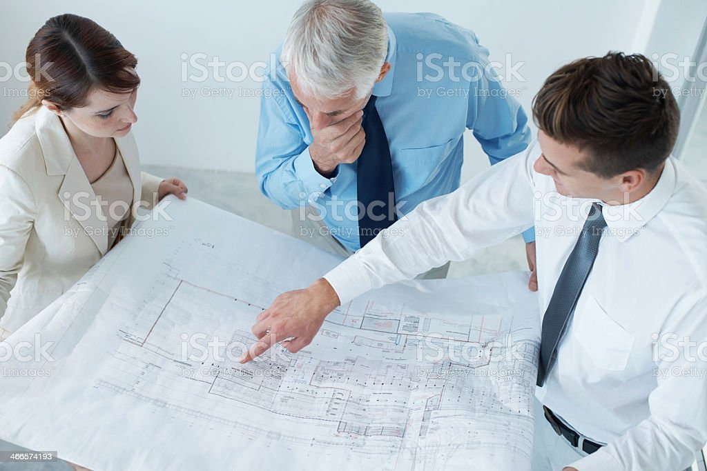 Brainstorming their way to success stock photo