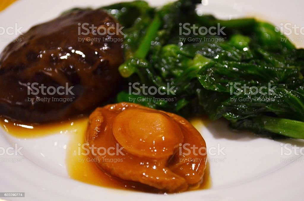 Braised abalone stock photo