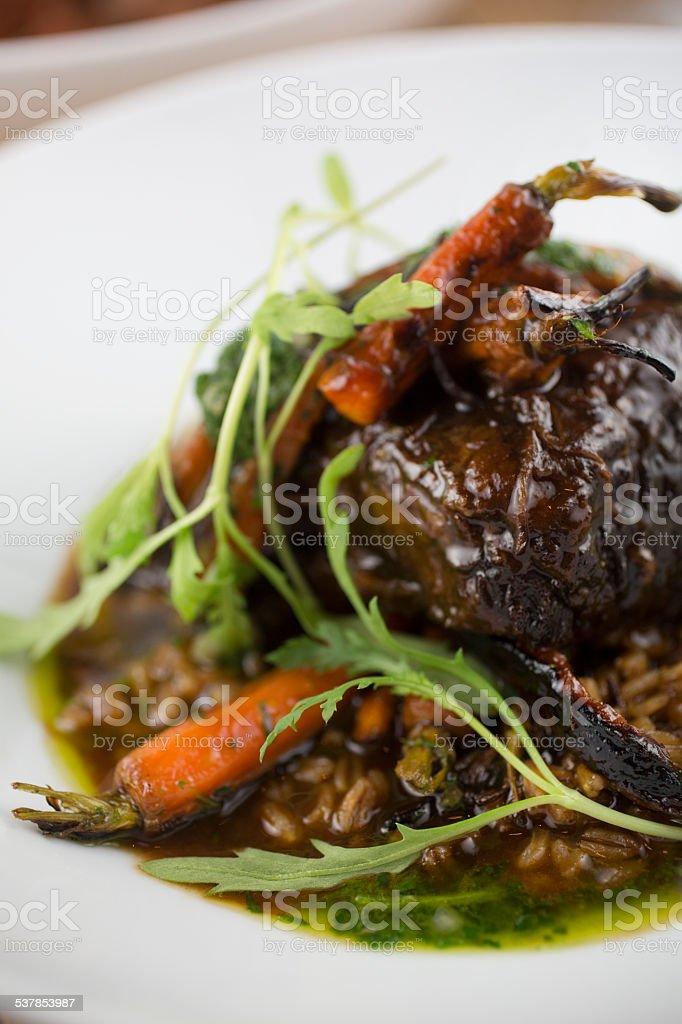Braised Beef short ribs stock photo