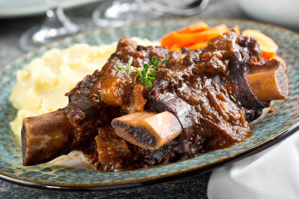 braised beef short ribs - braised stock pictures, royalty-free photos & images