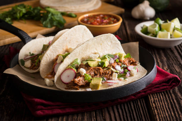 braised beef taco - braised stock pictures, royalty-free photos & images