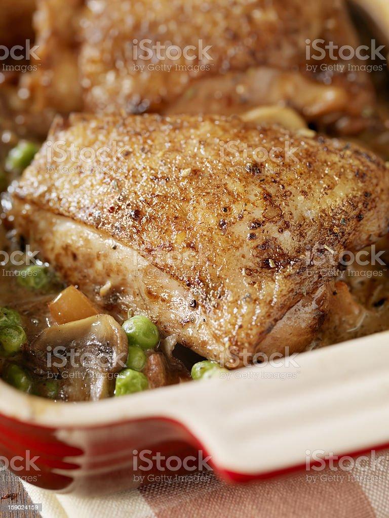 Braised Chicken Marsala stock photo