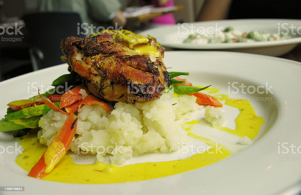 Braised Chicken on Mash royalty-free stock photo