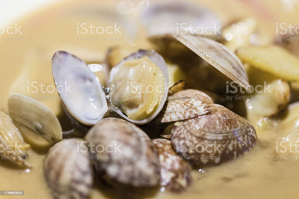 braised clam royalty-free stock photo