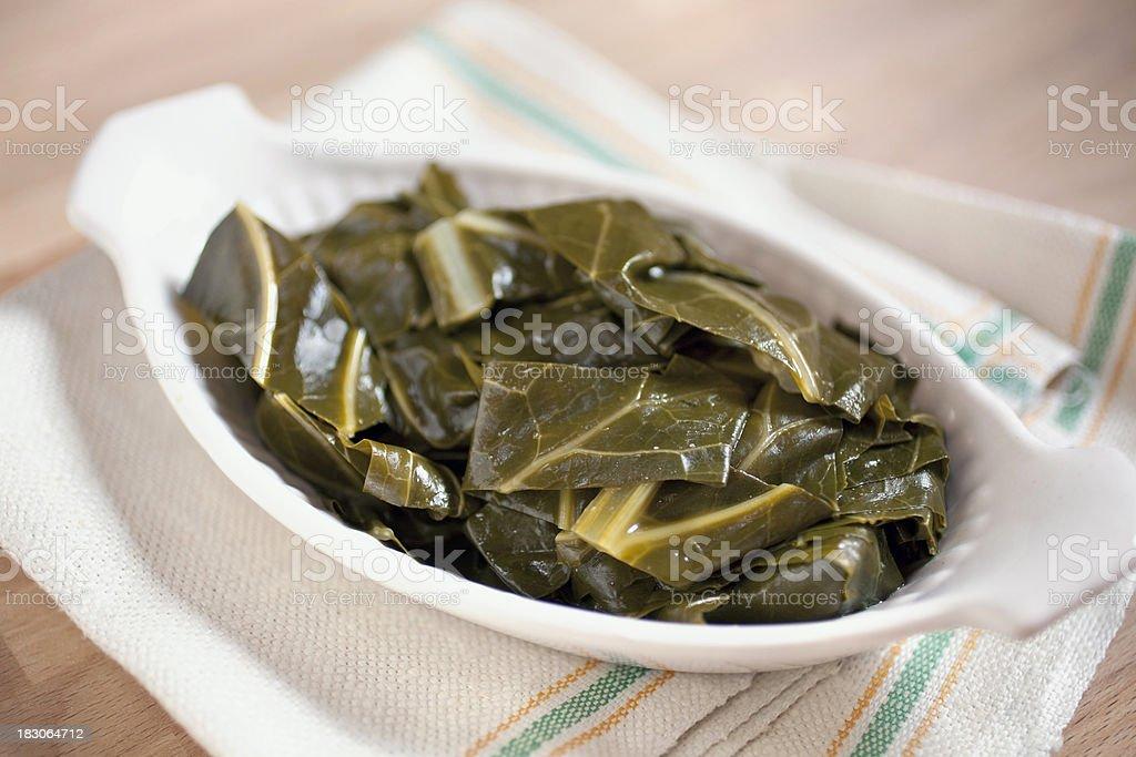 Braised collard greens stock photo