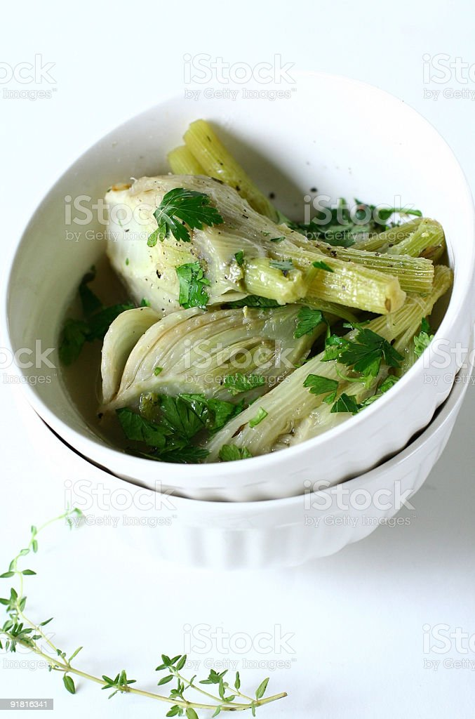 braised fennel royalty-free stock photo