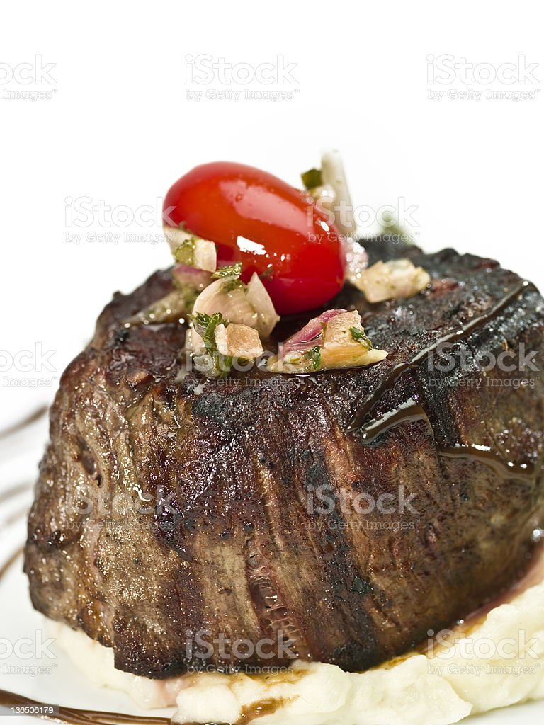 Braised Fillet Mignon royalty-free stock photo